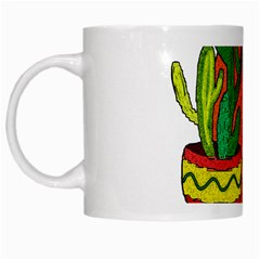 Cactus   Free Hugs White Mugs by Valentinaart