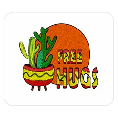 Cactus   Free Hugs Double Sided Flano Blanket (small)  by Valentinaart