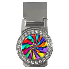 Star Flower Color Rainbow Money Clips (cz)  by Mariart