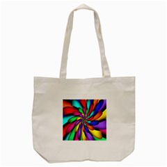 Star Flower Color Rainbow Tote Bag (cream) by Mariart