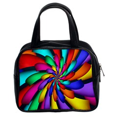 Star Flower Color Rainbow Classic Handbags (2 Sides) by Mariart