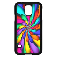 Star Flower Color Rainbow Samsung Galaxy S5 Case (black) by Mariart
