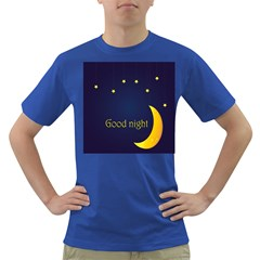 Star Moon Good Night Blue Sky Yellow Light Dark T Shirt by Mariart