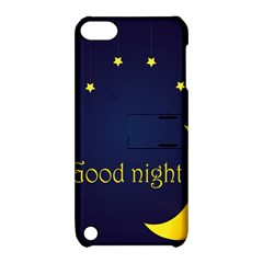 Star Moon Good Night Blue Sky Yellow Light Apple Ipod Touch 5 Hardshell Case With Stand by Mariart