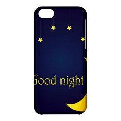 Star Moon Good Night Blue Sky Yellow Light Apple Iphone 5c Hardshell Case by Mariart