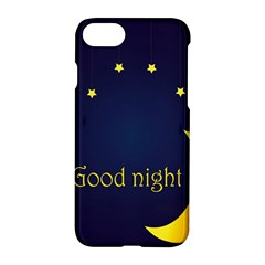 Star Moon Good Night Blue Sky Yellow Light Apple Iphone 7 Hardshell Case by Mariart