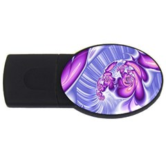 Space Stone Purple Silver Wave Chevron Usb Flash Drive Oval (4 Gb) by Mariart