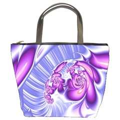 Space Stone Purple Silver Wave Chevron Bucket Bags by Mariart