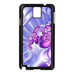 Space Stone Purple Silver Wave Chevron Samsung Galaxy Note 3 N9005 Case (black)