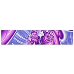 Space Stone Purple Silver Wave Chevron Flano Scarf (small) by Mariart