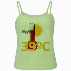 Thermometer Themperature Hot Sun Green Spaghetti Tank by Mariart