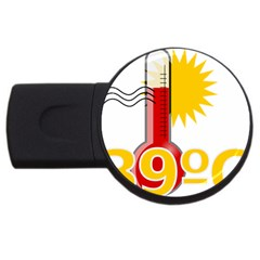 Thermometer Themperature Hot Sun Usb Flash Drive Round (2 Gb) by Mariart