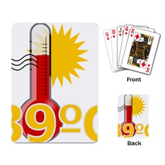 Thermometer Themperature Hot Sun Playing Card by Mariart