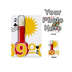 Thermometer Themperature Hot Sun Playing Cards 54 (mini)  by Mariart