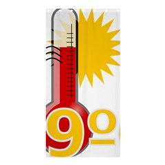 Thermometer Themperature Hot Sun Shower Curtain 36  X 72  (stall)  by Mariart
