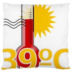 Thermometer Themperature Hot Sun Large Cushion Case (one Side) by Mariart