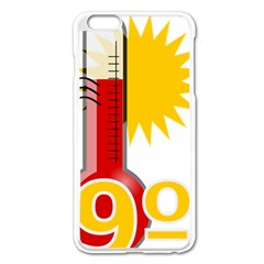 Thermometer Themperature Hot Sun Apple Iphone 6 Plus/6s Plus Enamel White Case by Mariart