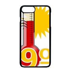 Thermometer Themperature Hot Sun Apple Iphone 7 Plus Seamless Case (black) by Mariart