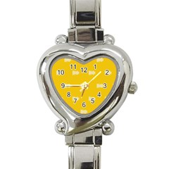 Waveform Disco Wahlin Retina White Yellow Heart Italian Charm Watch by Mariart