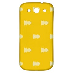 Waveform Disco Wahlin Retina White Yellow Samsung Galaxy S3 S Iii Classic Hardshell Back Case by Mariart