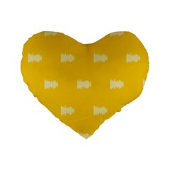 Waveform Disco Wahlin Retina White Yellow Standard 16  Premium Heart Shape Cushions by Mariart
