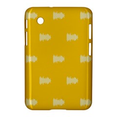 Waveform Disco Wahlin Retina White Yellow Samsung Galaxy Tab 2 (7 ) P3100 Hardshell Case  by Mariart