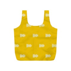 Waveform Disco Wahlin Retina White Yellow Full Print Recycle Bags (s)