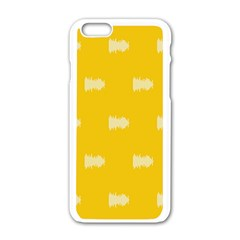 Waveform Disco Wahlin Retina White Yellow Apple Iphone 6/6s White Enamel Case by Mariart