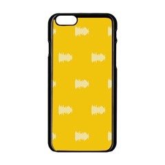 Waveform Disco Wahlin Retina White Yellow Apple Iphone 6/6s Black Enamel Case by Mariart