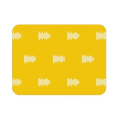 Waveform Disco Wahlin Retina White Yellow Double Sided Flano Blanket (mini)  by Mariart