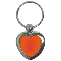 Scarlet Pimpernel Writing Orange Green Key Chains (heart)  by Mariart