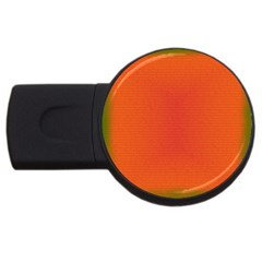 Scarlet Pimpernel Writing Orange Green Usb Flash Drive Round (4 Gb) by Mariart