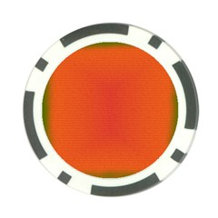 Scarlet Pimpernel Writing Orange Green Poker Chip Card Guard (10 Pack) by Mariart