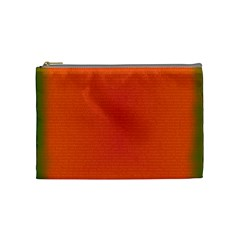 Scarlet Pimpernel Writing Orange Green Cosmetic Bag (medium)