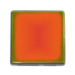 Scarlet Pimpernel Writing Orange Green Memory Card Reader (square) by Mariart