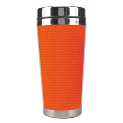 Scarlet Pimpernel Writing Orange Green Stainless Steel Travel Tumblers by Mariart