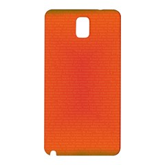 Scarlet Pimpernel Writing Orange Green Samsung Galaxy Note 3 N9005 Hardshell Back Case by Mariart