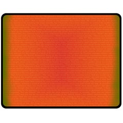 Scarlet Pimpernel Writing Orange Green Double Sided Fleece Blanket (medium)  by Mariart