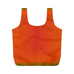 Scarlet Pimpernel Writing Orange Green Full Print Recycle Bags (m)  by Mariart