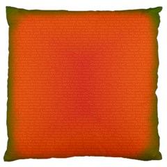 Scarlet Pimpernel Writing Orange Green Standard Flano Cushion Case (one Side) by Mariart