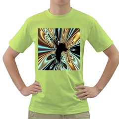 Silver Gold Hole Black Space Green T Shirt by Mariart