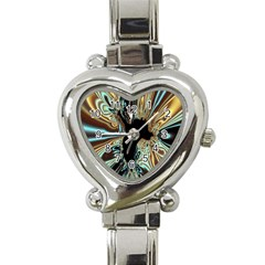 Silver Gold Hole Black Space Heart Italian Charm Watch by Mariart