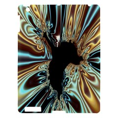 Silver Gold Hole Black Space Apple Ipad 3/4 Hardshell Case by Mariart