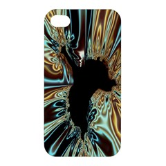 Silver Gold Hole Black Space Apple Iphone 4/4s Premium Hardshell Case by Mariart