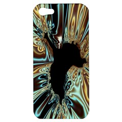 Silver Gold Hole Black Space Apple Iphone 5 Hardshell Case by Mariart