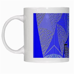 Wave Chevron Plaid Circle Polka Line Light Blue Triangle White Mugs by Mariart