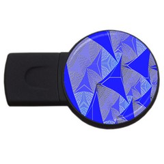 Wave Chevron Plaid Circle Polka Line Light Blue Triangle Usb Flash Drive Round (2 Gb) by Mariart