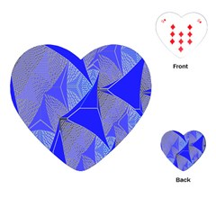 Wave Chevron Plaid Circle Polka Line Light Blue Triangle Playing Cards (heart)  by Mariart