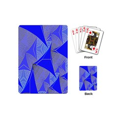 Wave Chevron Plaid Circle Polka Line Light Blue Triangle Playing Cards (mini)  by Mariart