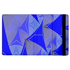 Wave Chevron Plaid Circle Polka Line Light Blue Triangle Apple Ipad 2 Flip Case by Mariart